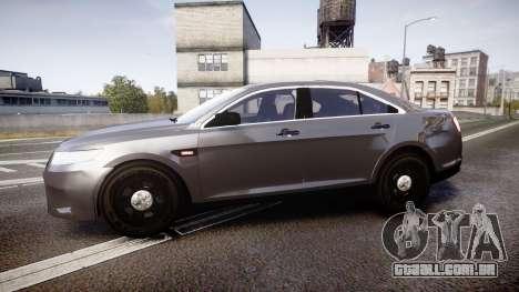 Ford Taurus 2010 Unmarked Police [ELS] para GTA 4 esquerda vista