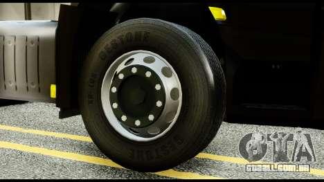 Mercedes-Benz Actros MP4 6x4 Exclucive Interior para GTA San Andreas traseira esquerda vista