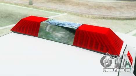 Premier Ambulance para GTA San Andreas vista traseira
