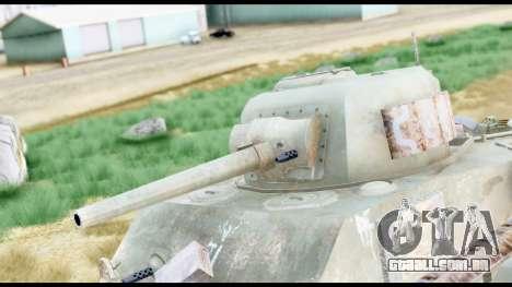 M4 Sherman 75mm Gun Urban para GTA San Andreas vista direita