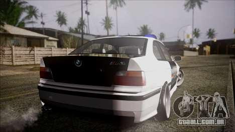 BMW M3 E36 Police para GTA San Andreas esquerda vista