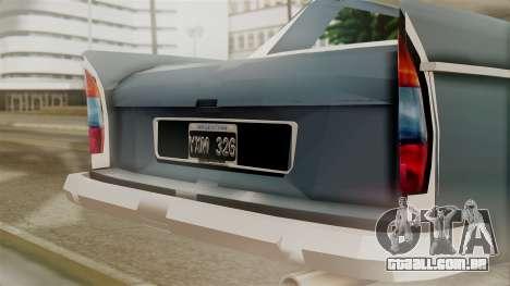 Peugeot 404 para GTA San Andreas vista traseira