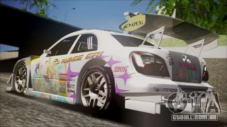 Subaru Impreza 2003 Love Live Muse Team Itasha para GTA San Andreas traseira esquerda vista