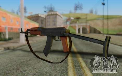 AK-47S with Strap para GTA San Andreas segunda tela