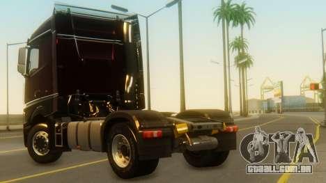 Mercedes-Benz Actros MP4 Stream Space Black para GTA San Andreas esquerda vista