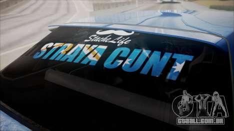 Nissan Onevia para GTA San Andreas vista traseira