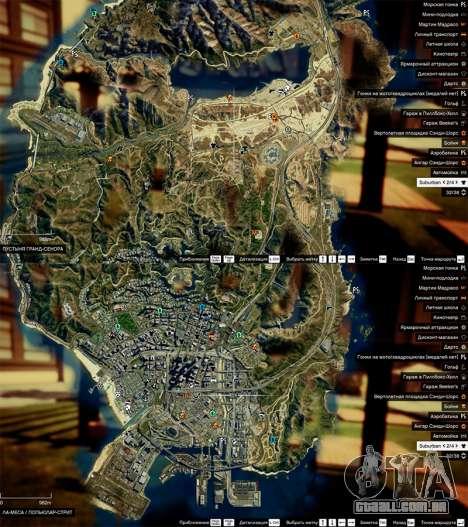 Mapa de satélite em 2K para GTA 5