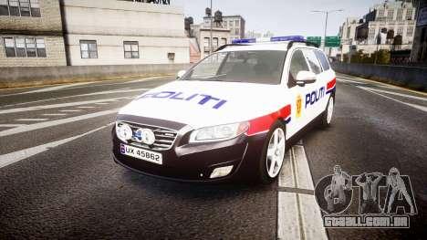Volvo V70 2014 Norwegian Police [ELS] para GTA 4