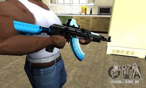 Blue Scan AK-47 para GTA San Andreas segunda tela