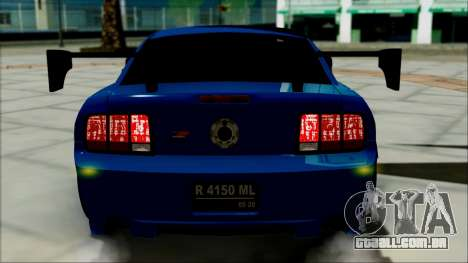 Ford Mustang GT Modification para GTA San Andreas vista interior