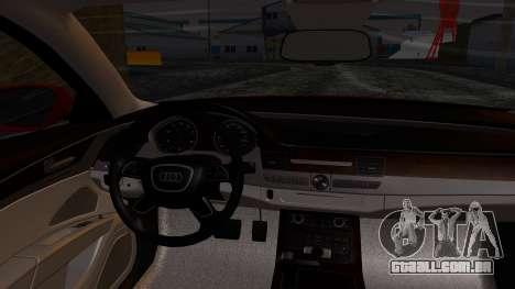 Audi A8 Turkish Edition para GTA San Andreas vista direita