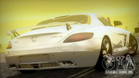 Mercedes-Benz SLS AMG 2013 para vista lateral GTA San Andreas