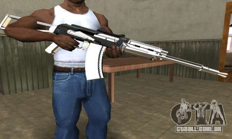 White with Black AK-47 para GTA San Andreas