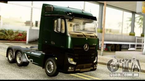 Mercedes-Benz Actros MP4 6x4 Standart Interior para GTA San Andreas