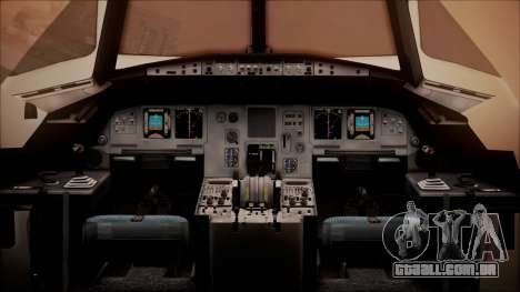 Airbus A320-200 para GTA San Andreas vista traseira