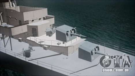 Type 34 Destroyer para GTA San Andreas traseira esquerda vista