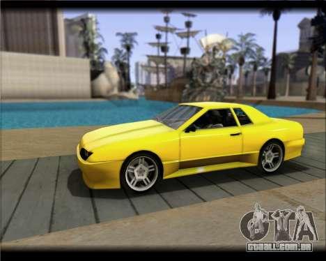 Elegy Hard Stunt para GTA San Andreas vista traseira