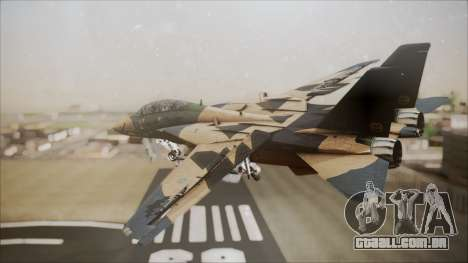F-14D AC6 Halloween para GTA San Andreas esquerda vista