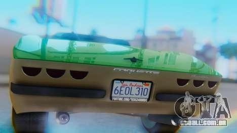 Invetero Coquette BlackFin v2 GTA 5 Plate para GTA San Andreas vista interior