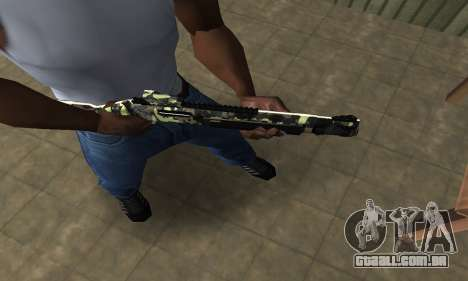Camo Espingarda para GTA San Andreas segunda tela