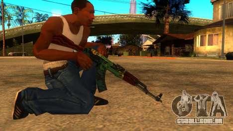 AK-47 Serpente de Fogo para GTA San Andreas segunda tela