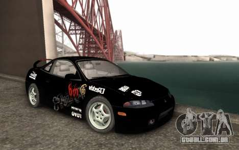 Mitsubishi Eclipse GSX NFS Prostreet para GTA San Andreas traseira esquerda vista