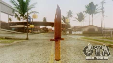 Combat Knife para GTA San Andreas segunda tela
