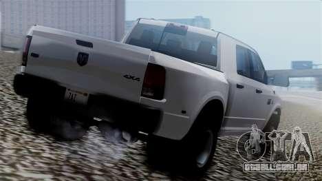 Dodge Ram 3500 2010 para GTA San Andreas esquerda vista