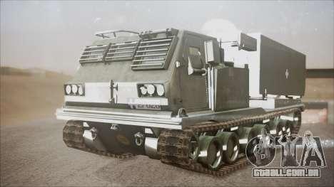 Hellenic Army M270 MLRS para GTA San Andreas vista direita