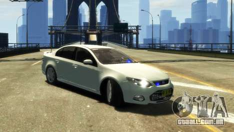 Ford Falcon FG XR6 Turbo Unmarked Police [ELS] para GTA 4