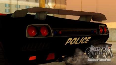 Lamborghini Diablo Police SA Style para GTA San Andreas vista direita