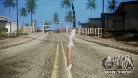 Colecionáveis chrome faca para GTA San Andreas segunda tela