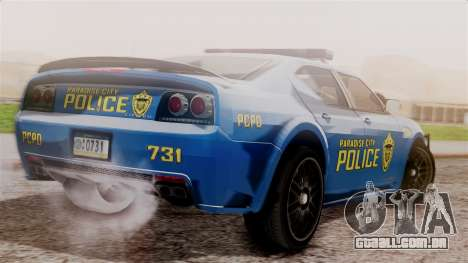 Hunter Citizen from Burnout Paradise v2 para GTA San Andreas esquerda vista
