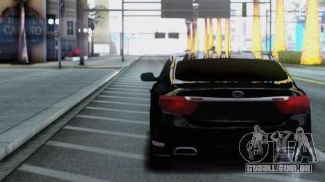 Kia Quoris para GTA San Andreas vista traseira