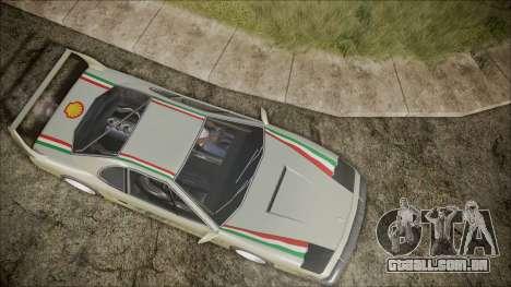Turismo F40 para GTA San Andreas vista interior