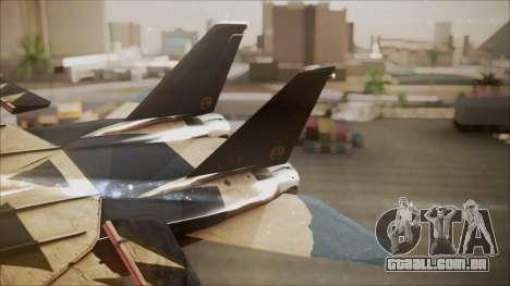 F-14D AC6 Halloween para GTA San Andreas traseira esquerda vista