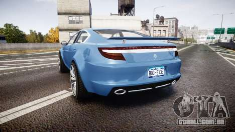 GTA V Ocelot Jackal new york plates para GTA 4 traseira esquerda vista