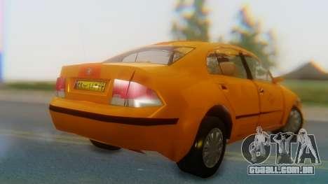Samand Taxi para GTA San Andreas esquerda vista