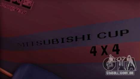 Sandking Mitsubishi Cup para GTA San Andreas vista direita