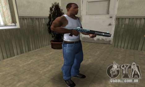 Blue Snow Shotgun para GTA San Andreas terceira tela