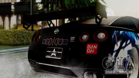 Nissan GT-R R35 Black Rock Shooter Itasha para GTA San Andreas vista direita