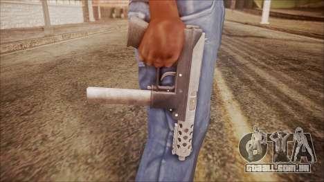 TEC-9 v1 from Battlefield Hardline para GTA San Andreas terceira tela