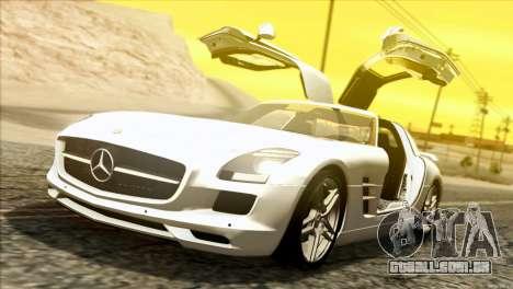 Mercedes-Benz SLS AMG 2013 para GTA San Andreas esquerda vista