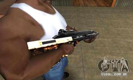 Gold AUG para GTA San Andreas segunda tela