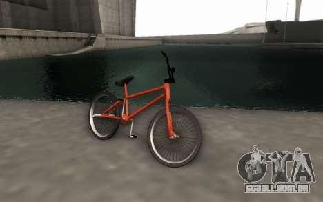 BMX HD para GTA San Andreas traseira esquerda vista