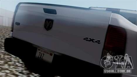 Dodge Ram 3500 2010 para GTA San Andreas vista traseira