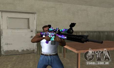 Automatic Sniper Rifle para GTA San Andreas terceira tela