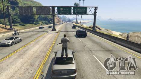 Stand On Moving Cars para GTA 5