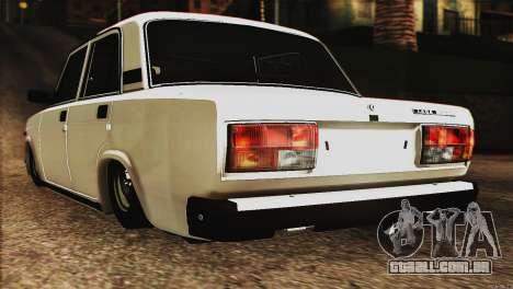 VAZ 2107 E-Design para GTA San Andreas esquerda vista