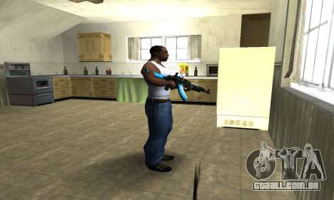 Blue Scan AK-47 para GTA San Andreas terceira tela